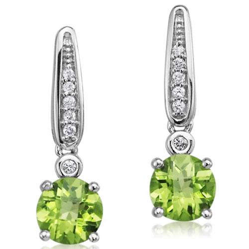 Gemstone Earrings with Diamonds