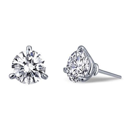 Lafonn sterling silver diamond simulate earrings